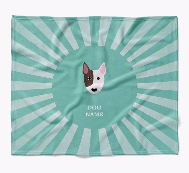 Personalized Rays Blanket for your Bull Terrier