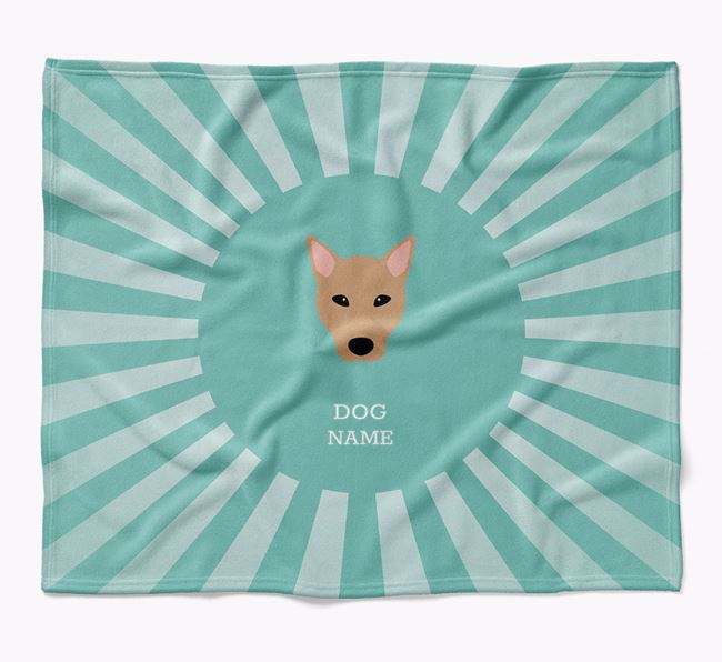 Personalized Rays Blanket for your Canaan Dog