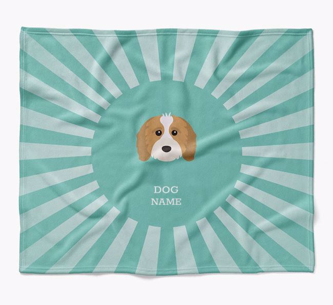 Personalized Rays Blanket for your Cavapoo