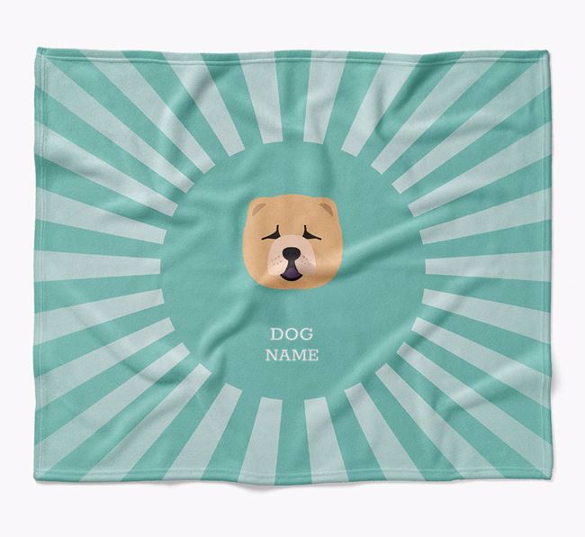 Personalized Rays Blanket for your Chow Chow