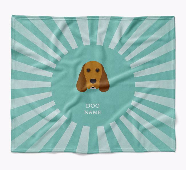 Personalized Rays Blanket for your Cocker Spaniel