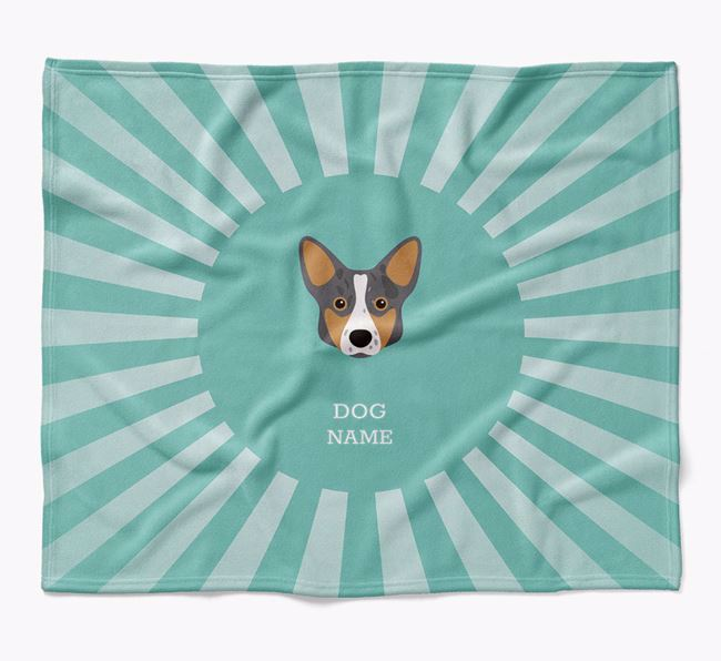 Personalized Rays Blanket for your Corgi