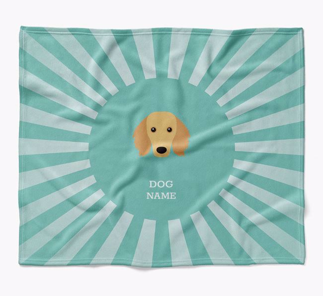 Personalized Rays Blanket for your Dachshund