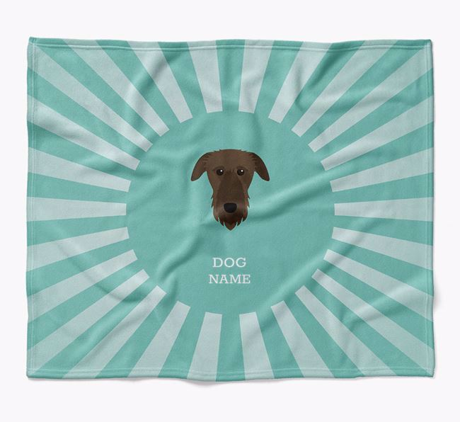 Personalized Rays Blanket for your Deerhound