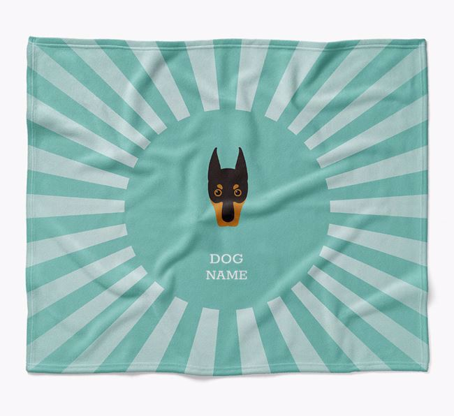 Personalized Rays Blanket for your Dobermann