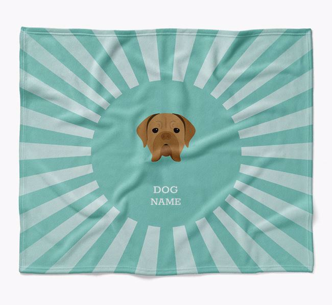 Personalized Rays Blanket for your Dogue de Bordeaux