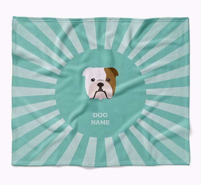 Personalized Rays Blanket for your English Bulldog