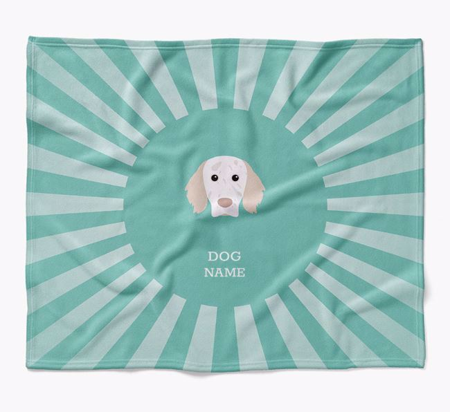 Personalized Rays Blanket for your English Setter