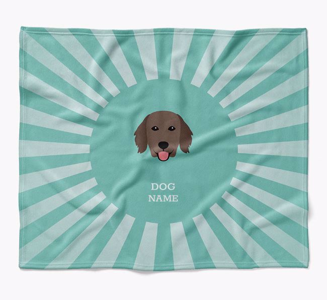 Personalized Rays Blanket for your Flat-Coated Retriever