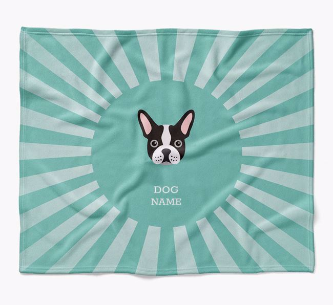 Personalized Rays Blanket for your French Bulldog