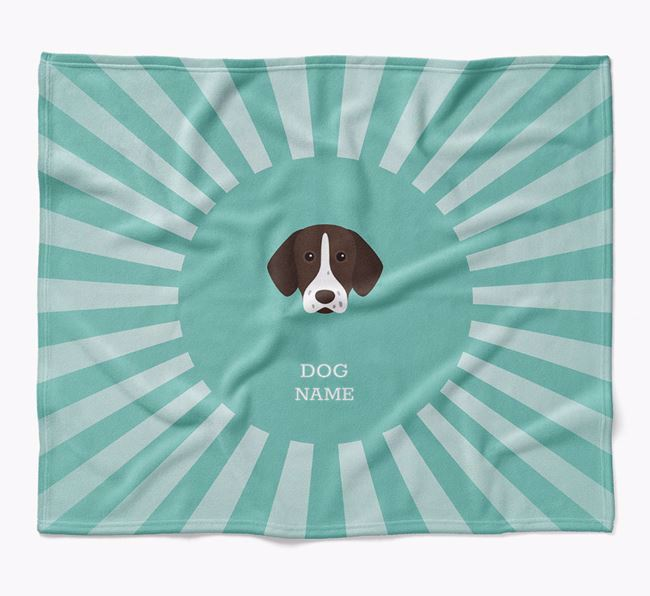 Personalized Rays Blanket for your German Shorthaired Pointer