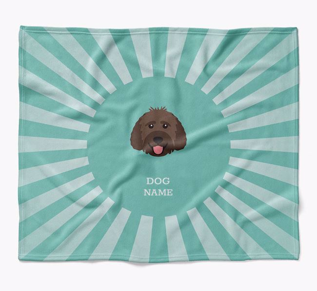 Personalized Rays Blanket for your Goldendoodle