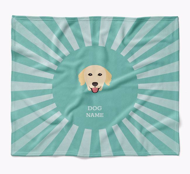 Personalized Rays Blanket for your Golden Retriever