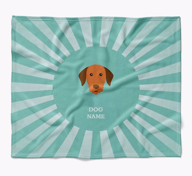 Personalized Rays Blanket for your Hungarian Vizsla