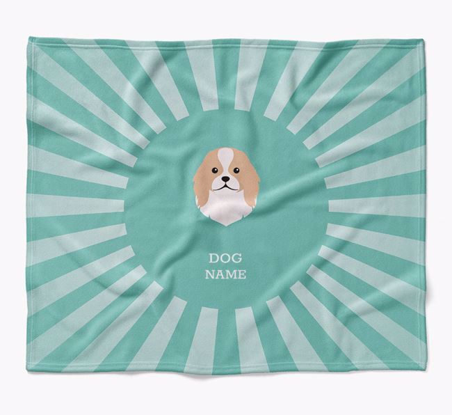 Personalized Rays Blanket for your Japanese Chin