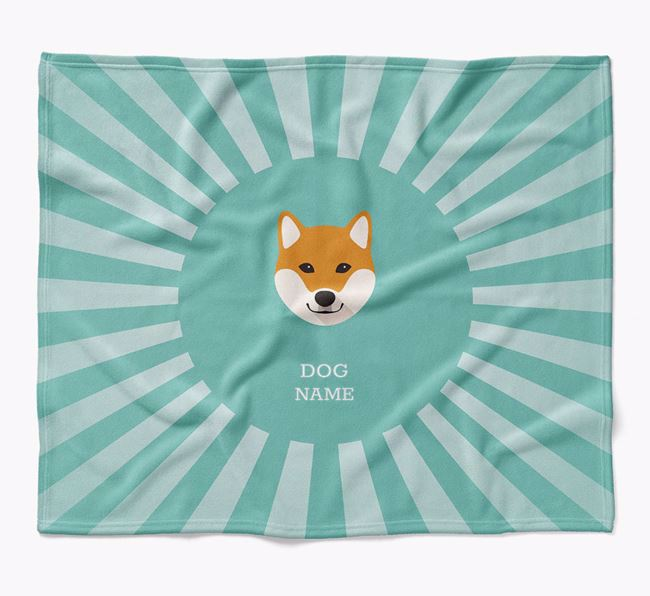 Personalized Rays Blanket for your Japanese Shiba