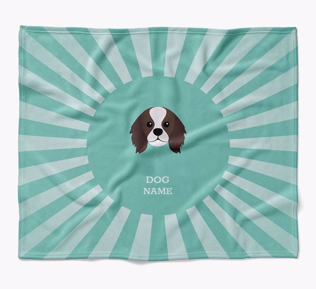 Personalized Rays Blanket for your King Charles Spaniel