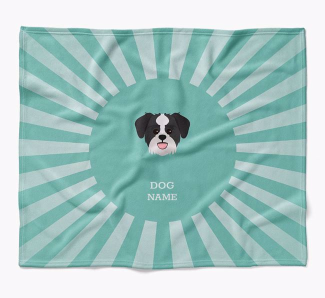 Personalized Rays Blanket for your Lachon