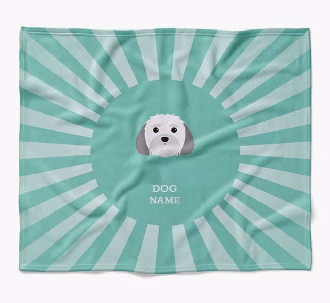 Personalized Rays Blanket for your Malti-Poo