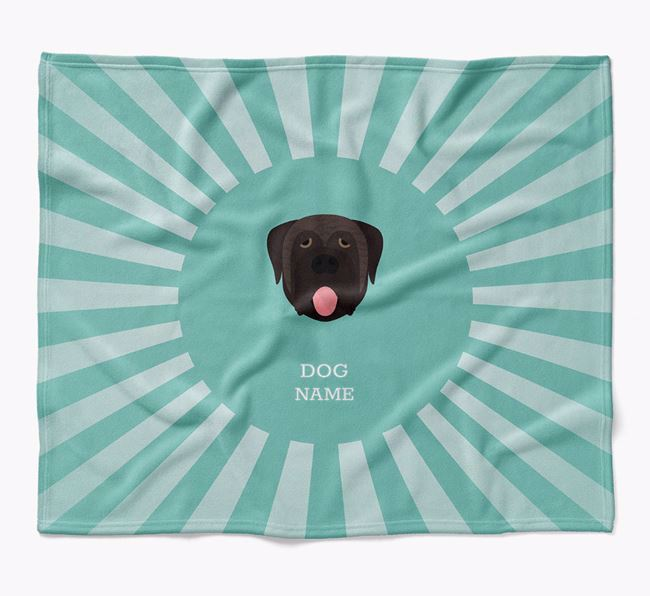 Personalized Rays Blanket for your Mastiff