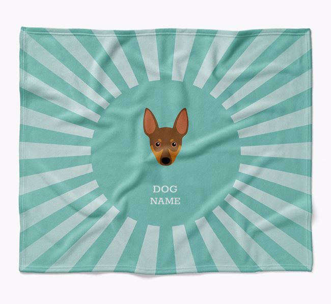 Personalized Rays Blanket for your Miniature Pinscher