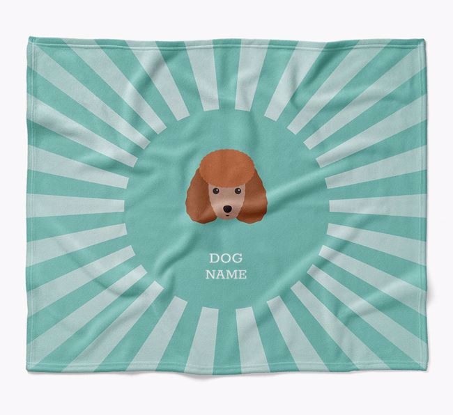 Personalized Rays Blanket for your Miniature Poodle