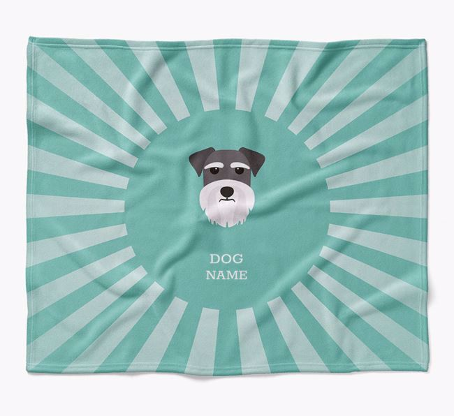 Personalized Rays Blanket for your Miniature Schnauzer