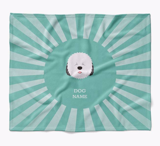 Personalized Rays Blanket for your Old English Sheepdog