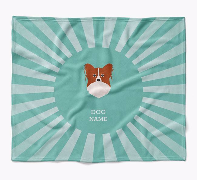 Personalized Rays Blanket for your Papillon