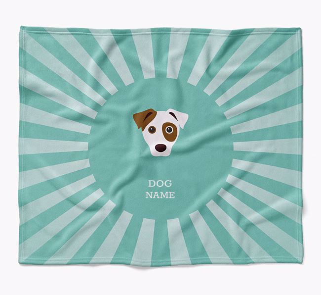 Personalized Rays Blanket for your Parson Russell Terrier