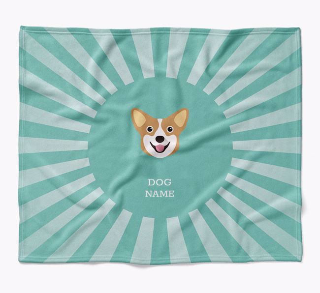 Personalized Rays Blanket for your Pembroke Welsh Corgi