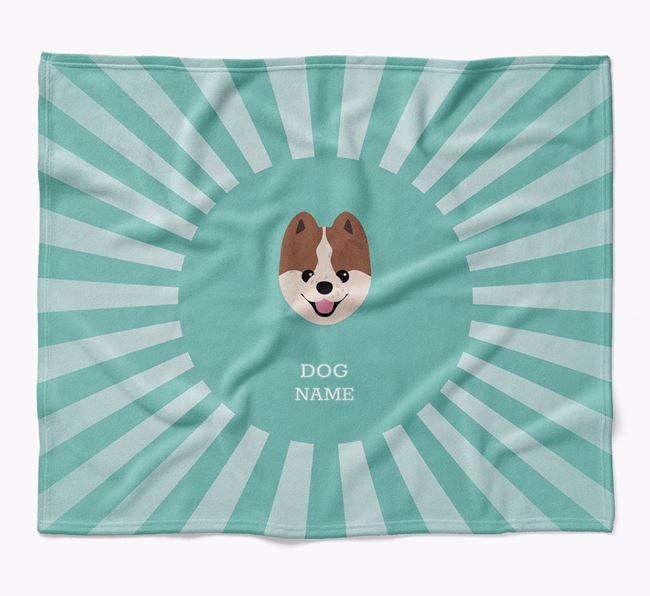 Personalized Rays Blanket for your Pomeranian