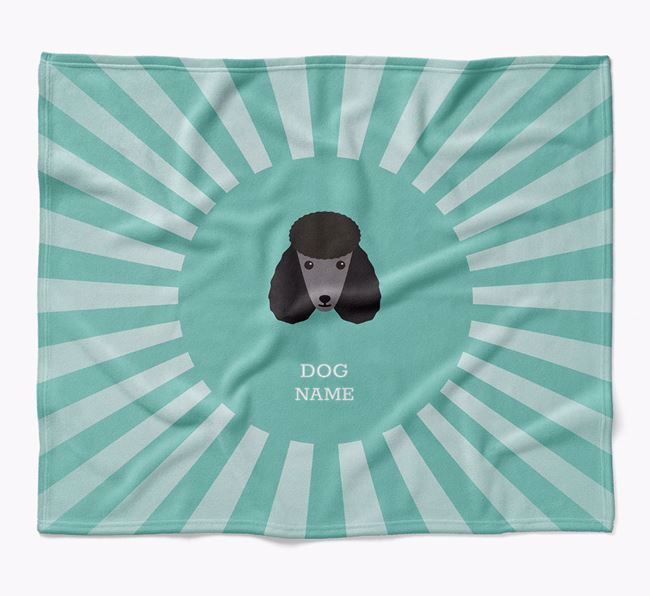 Personalized Rays Blanket for your Poodle