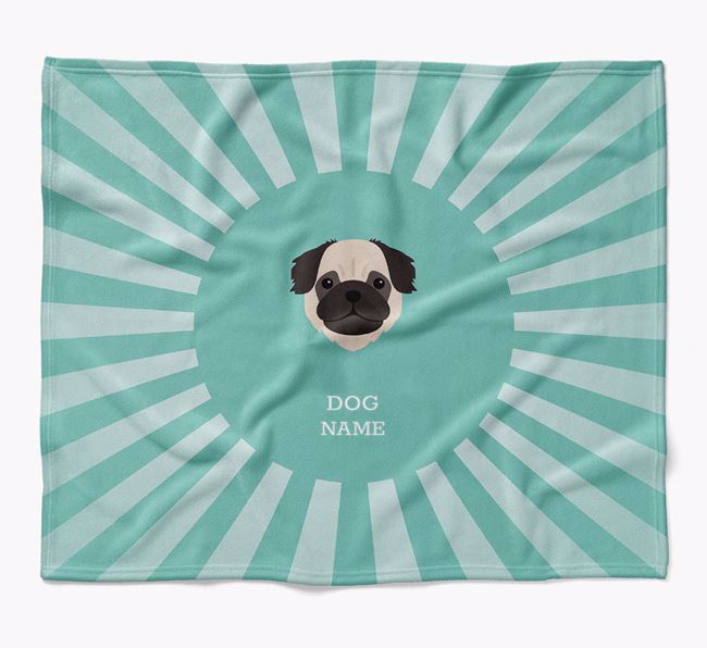 Personalized Rays Blanket for your Pug