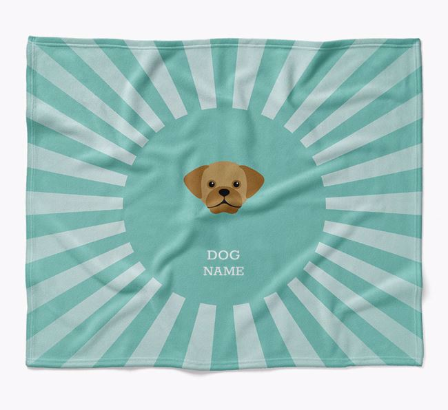 Personalized Rays Blanket for your Puggle