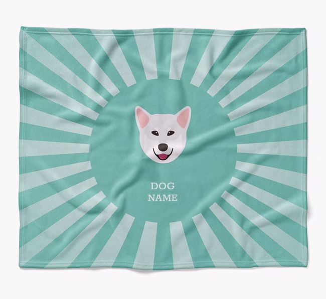 Personalized Rays Blanket for your Rescue Dog