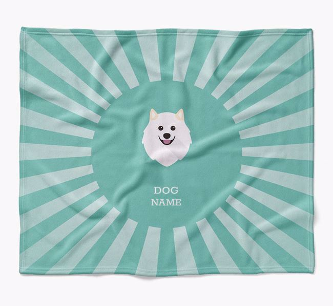 Personalized Rays Blanket for your Samoyed