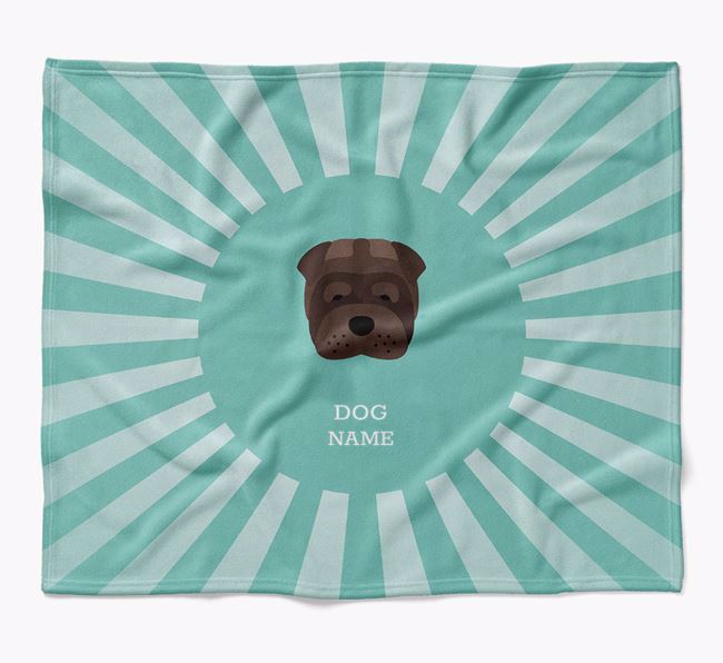 Personalized Rays Blanket for your Shar Pei