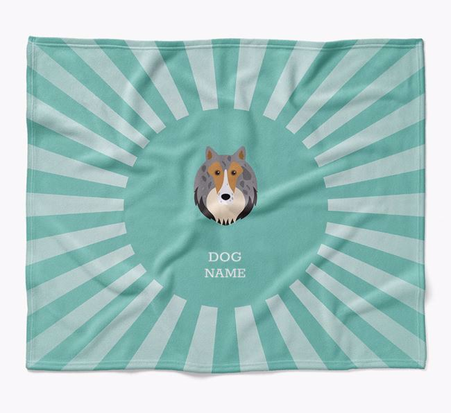 Personalized Rays Blanket for your Shetland Sheepdog
