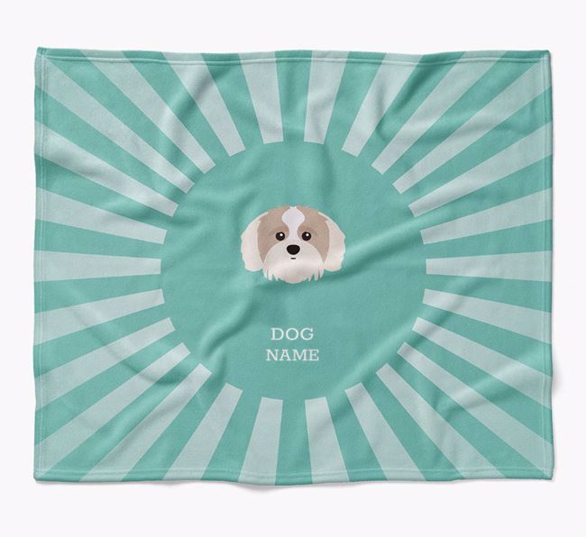 Personalized Rays Blanket for your Shih-poo