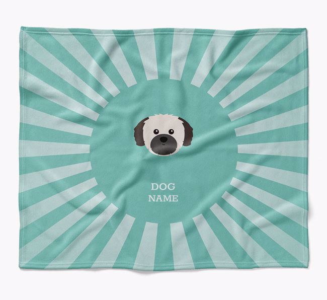 Personalized Rays Blanket for your Shih Tzu