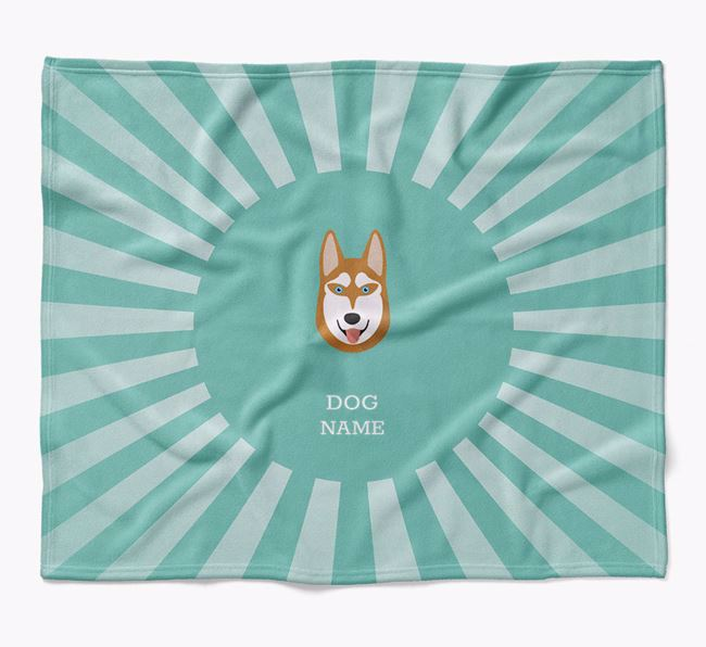 Personalized Rays Blanket for your Siberian Husky