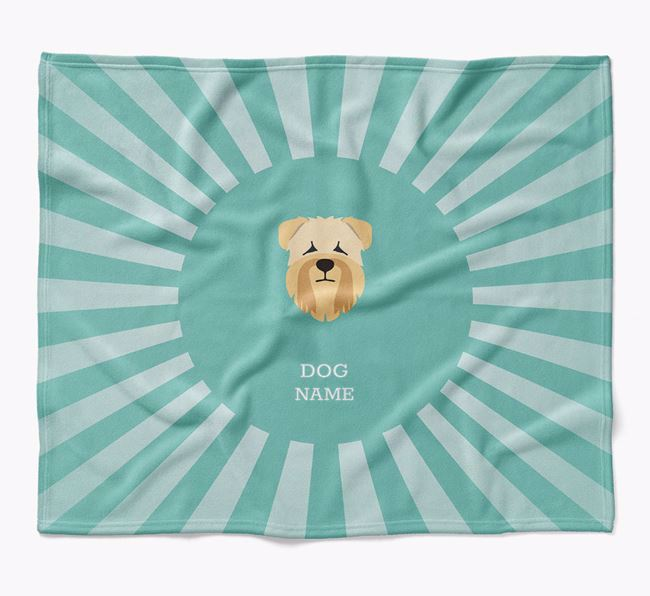 Personalized Rays Blanket for your Soft Coated Wheaten Terrier