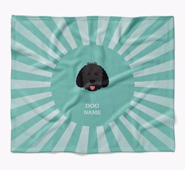 Personalized Rays Blanket for your Spanish Water Dog