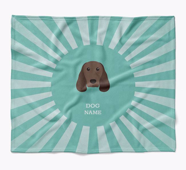Personalized Rays Blanket for your Springer Spaniel