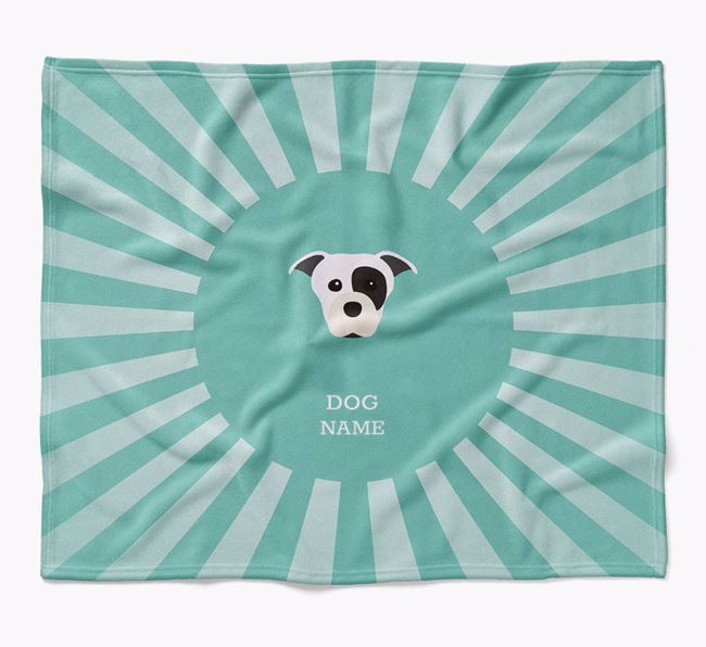 Personalized Rays Blanket for your Staffordshire Bull Terrier