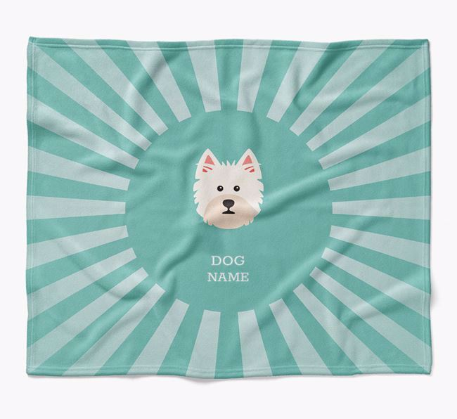 Personalized Rays Blanket for your West Highland White Terrier