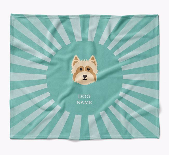 Personalized Rays Blanket for your Yorkshire Terrier