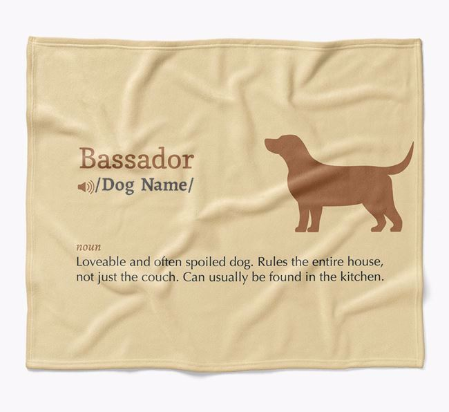 Personalized Definition Blanket with Bassador Silhouette