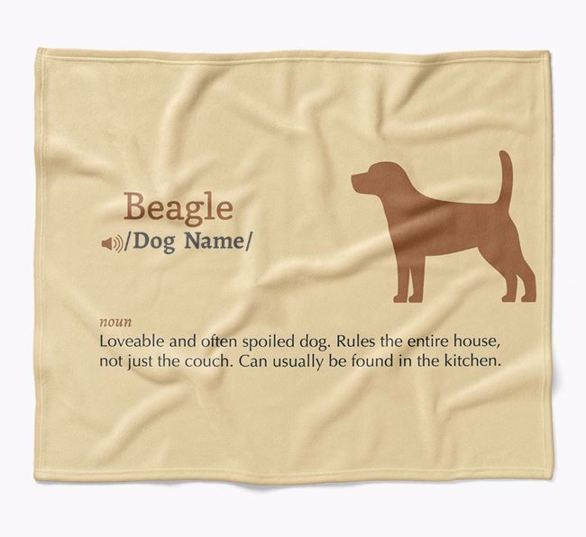 Personalized Definition Blanket with Beagle Silhouette